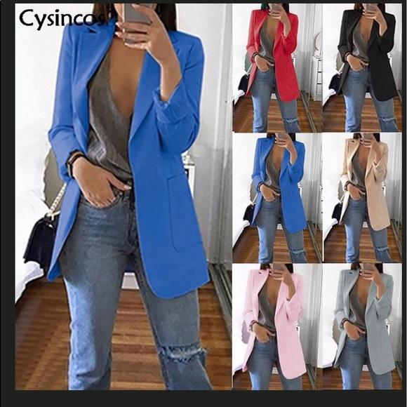 Jackets & Blazers - SLIM BLAZER WOMEN 2019 FASHION AUTUMN